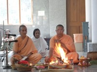 Homa on the occasion of Sri Sarada Devi's birthday